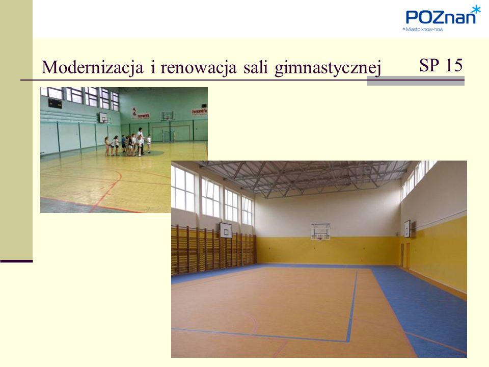Modernizacja i renowacja sali gimnastycznej SP 15