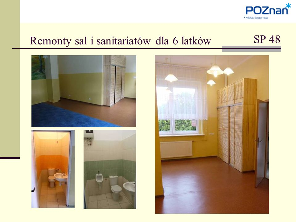 Remonty sal i sanitariatów dla 6 latków SP 48