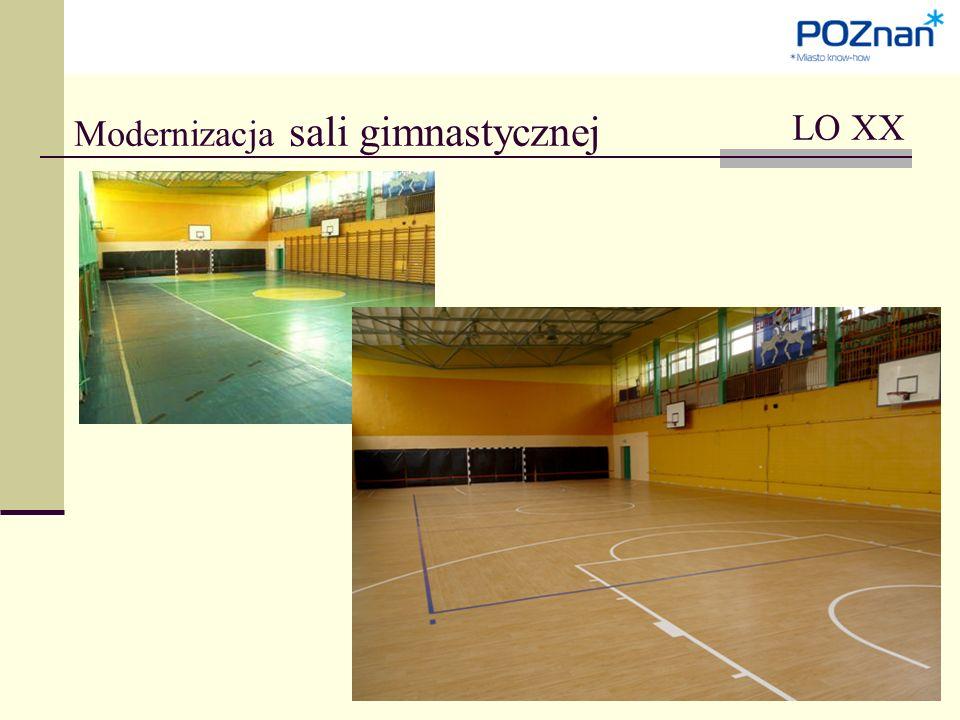 Modernizacja sali gimnastycznej LO XX