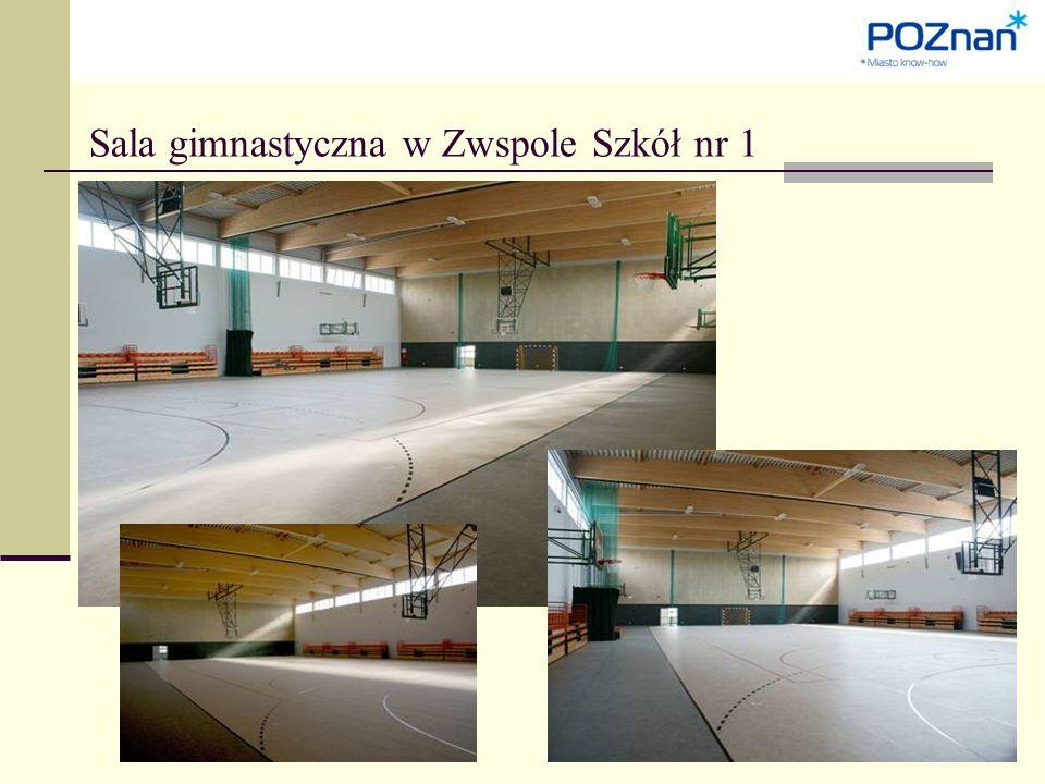 Sala gimnastyczna w Zwspole Szkół nr 1