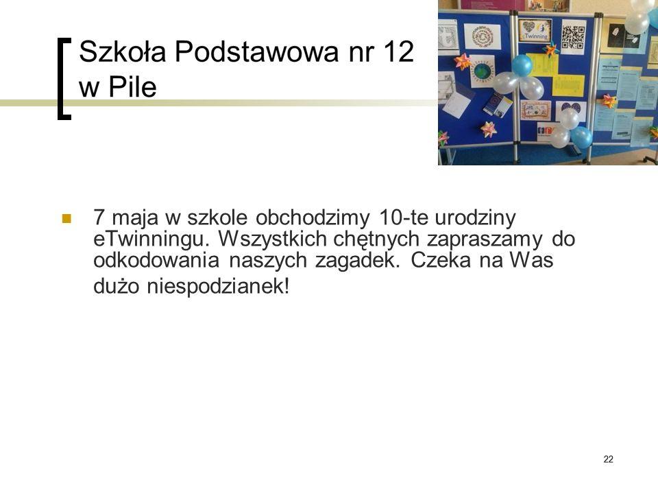 22 7 maja w szkole obchodzimy 10-te urodziny eTwinningu. Wszystkich chętnych zapraszamy do odkodowania naszych zagadek. Czeka na Was dużo niespodziane