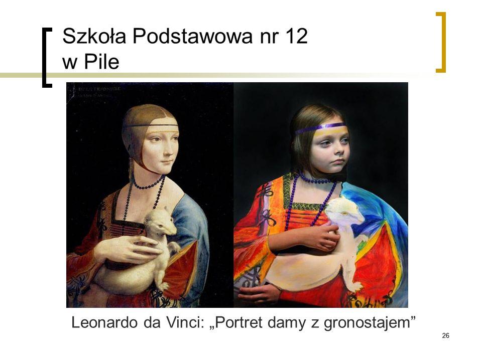"26 Leonardo da Vinci: ""Portret damy z gronostajem"""