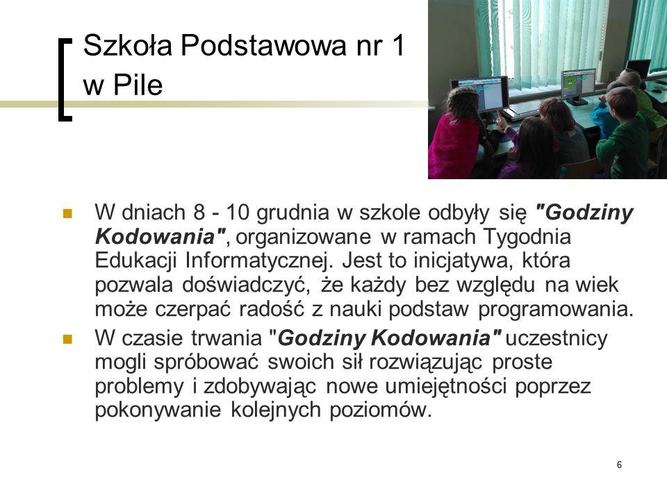 66 Szkoła Podstawowa nr 1 w Pile W dniach 8 - 10 grudnia w szkole odbyły się