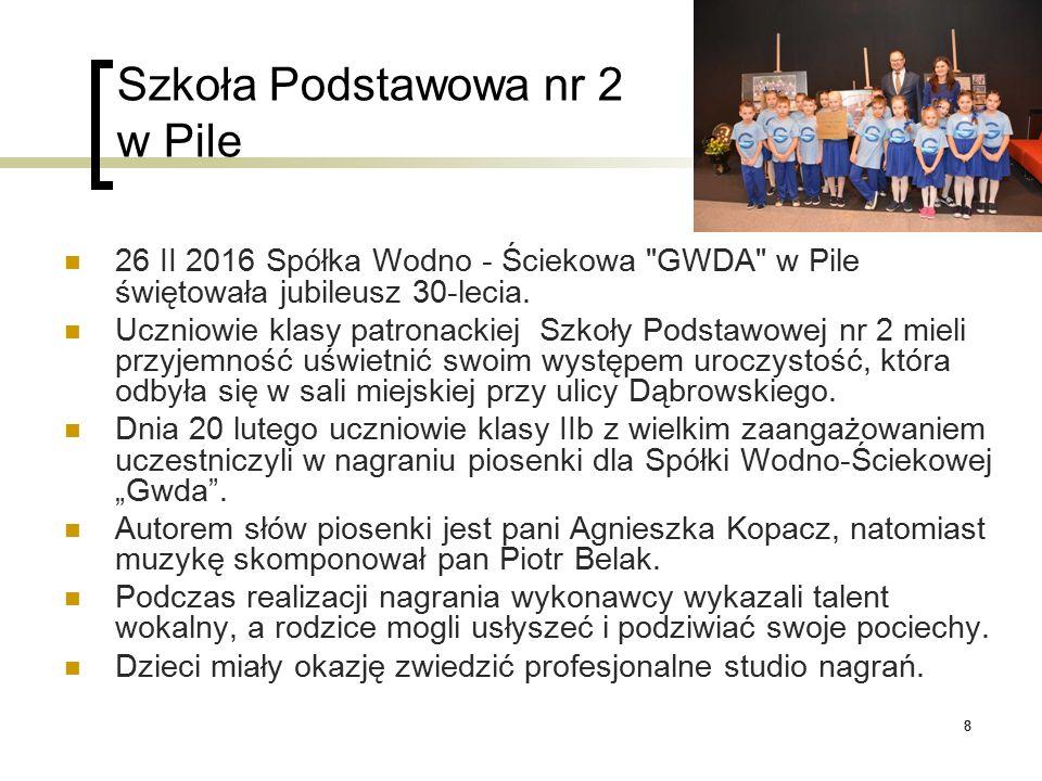 88 Szkoła Podstawowa nr 2 w Pile 26 II 2016 Spółka Wodno - Ściekowa