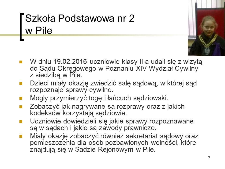 20 Szkoła Podstawowa nr 12 w Pile Spotkanie z przedstawicielami Sanepidu z Piły.