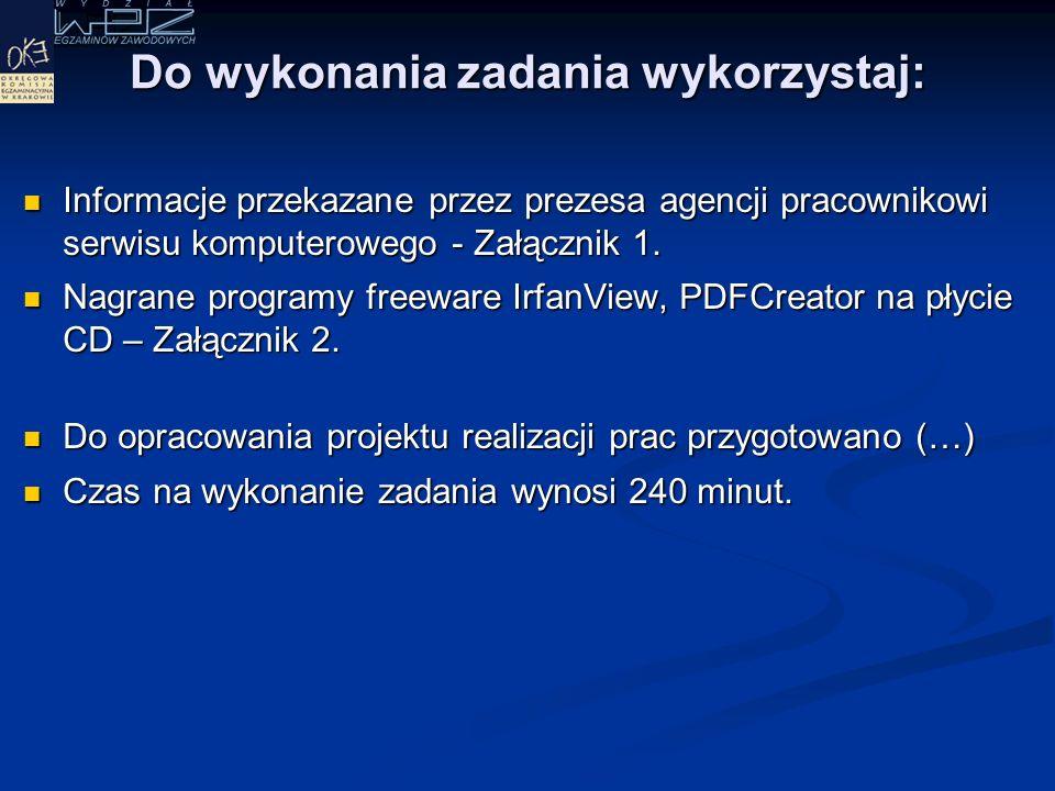 Dokumentacja z wykonanych prac powinna zawierać: Rejestr kolejno wykonywanych czynności w celu zdiagnozowania i usunięcia usterki systemu.