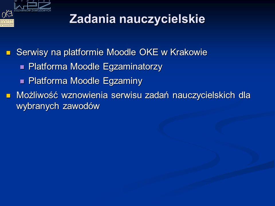 Platformy internetowe OKE w Krakowie Serwis zadań nauczycielskich