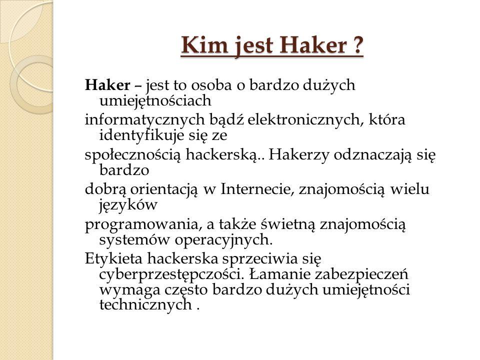 Kim jest Haker .