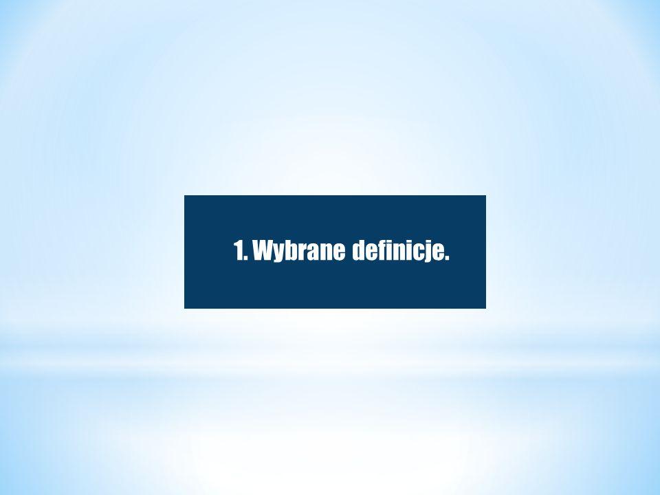 1. Wybrane definicje.