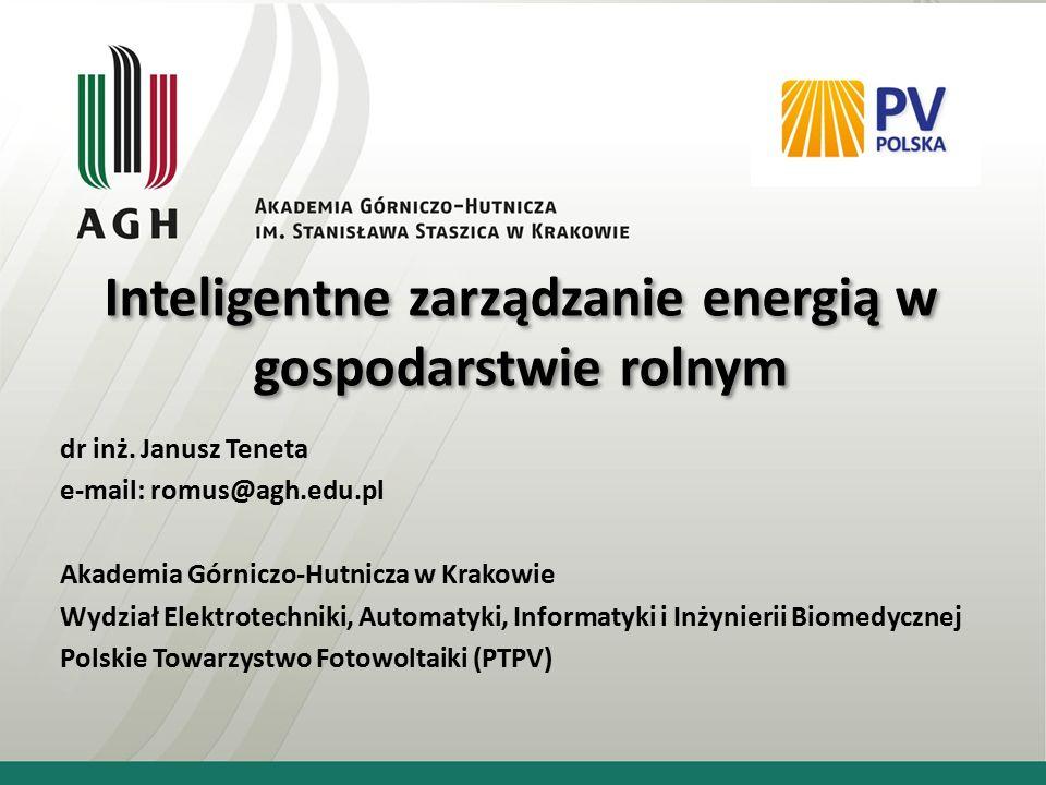 Inteligentne zarządzanie energią w gospodarstwie rolnym dr inż.