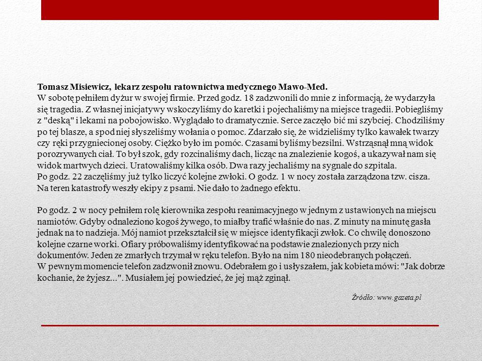 Tomasz Misiewicz, lekarz zespołu ratownictwa medycznego Mawo-Med.