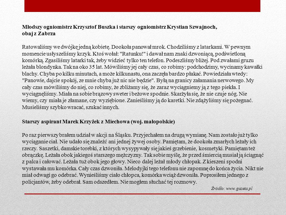 Starszy aspirant Marek Krzyżek z Miechowa (woj.