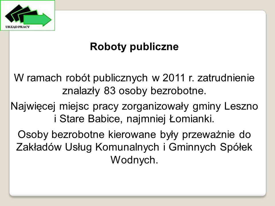 Roboty publiczne W ramach robót publicznych w 2011 r.