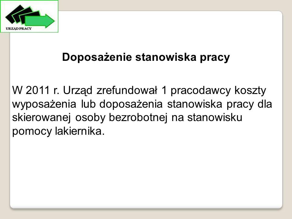 Doposażenie stanowiska pracy W 2011 r.
