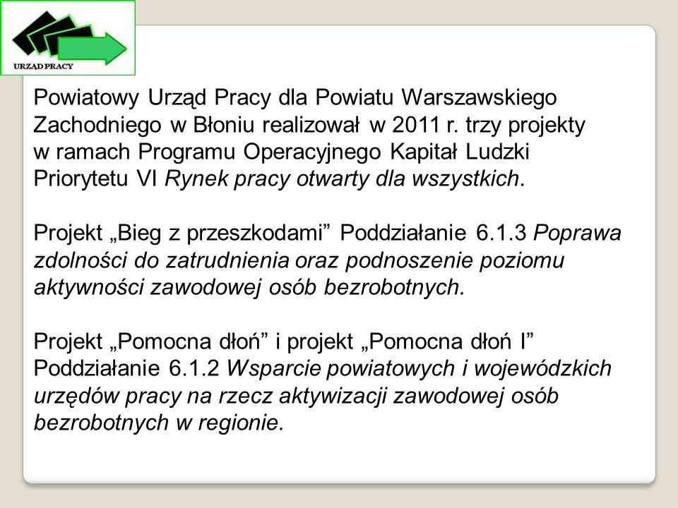 Powiatowy Urząd Pracy dla Powiatu Warszawskiego Zachodniego w Błoniu realizował w 2011 r.