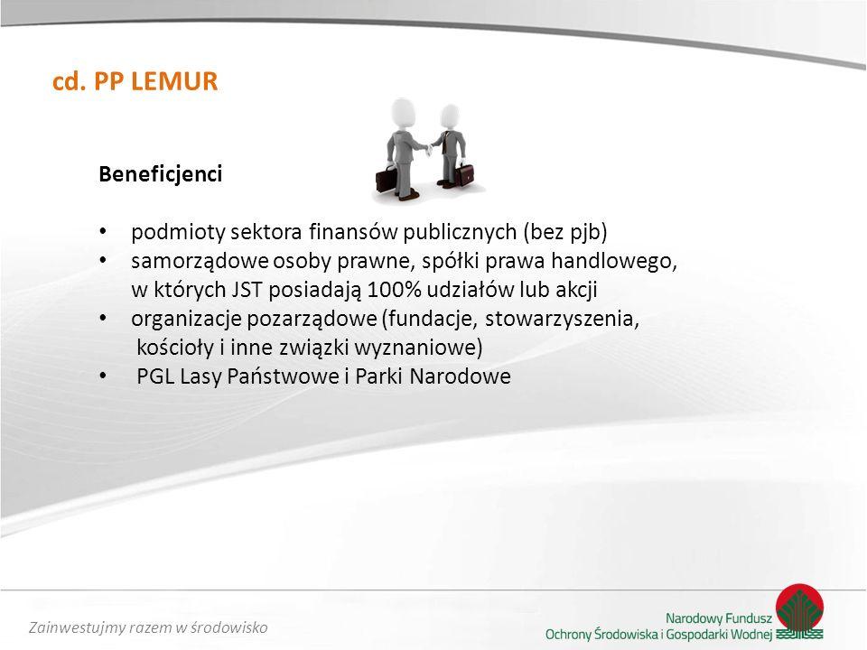 Zainwestujmy razem w środowisko Dziękuję za uwagę Tomasz Kuna Departament Energii i innowacji NFOŚiGW mail: t.kuna@nfosigw.gov.pl, tel.
