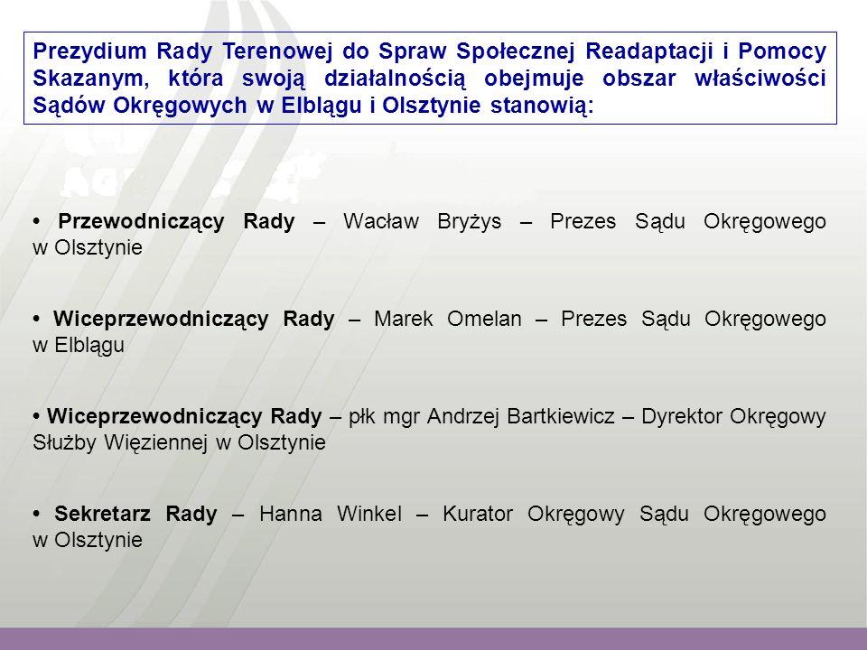 """Problematyką wiodącą w poszczególnych latach było: 2006 - posiedzenie w Areszcie Śledczym w Olsztynie, realizacja projektu inicjatywy wspólnotowej EQUAL """"Nowa droga ."""