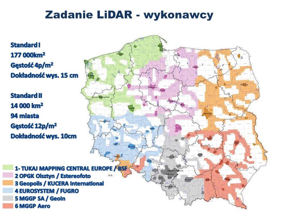 Zadanie LiDAR - wykonawcy