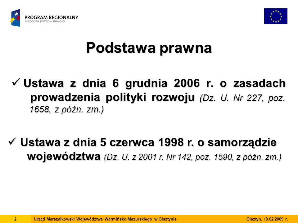 Ustawa z dnia 6 grudnia 2006 r. o zasadach prowadzenia polityki rozwoju (Dz.