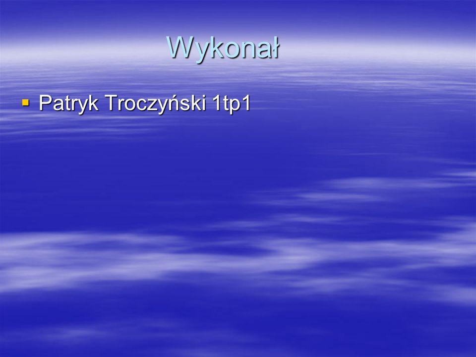 Wykonał  Patryk Troczyński 1tp1