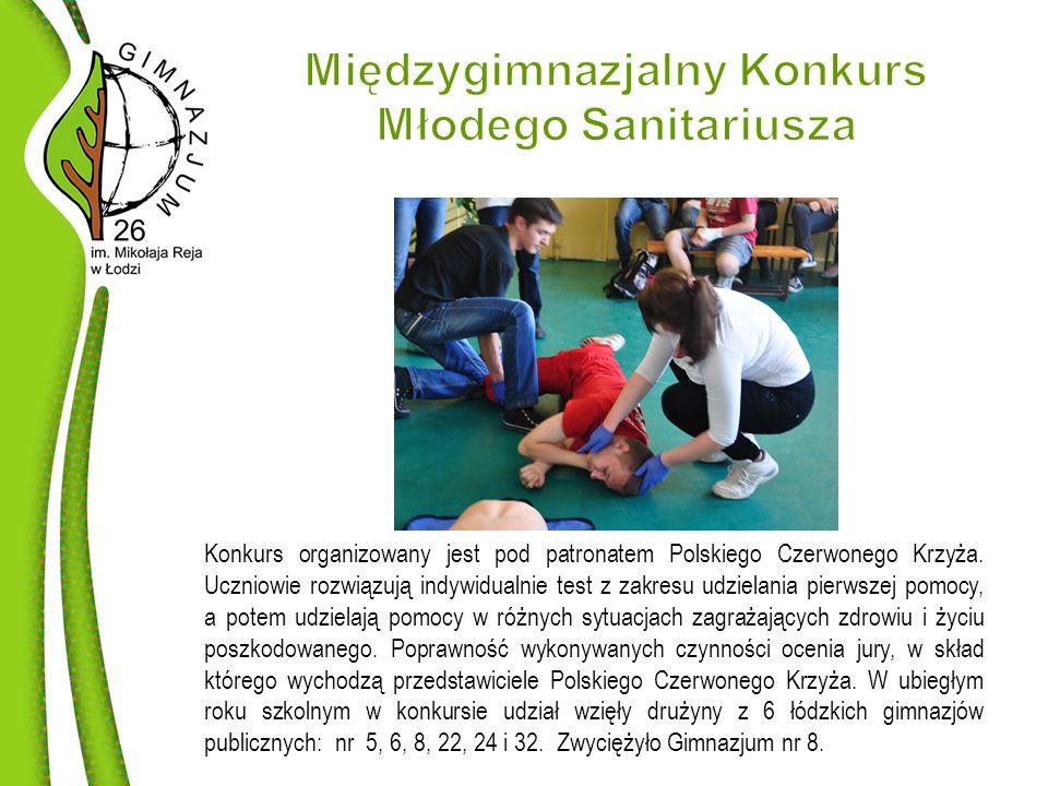 Konkurs organizowany jest pod patronatem Polskiego Czerwonego Krzyża.