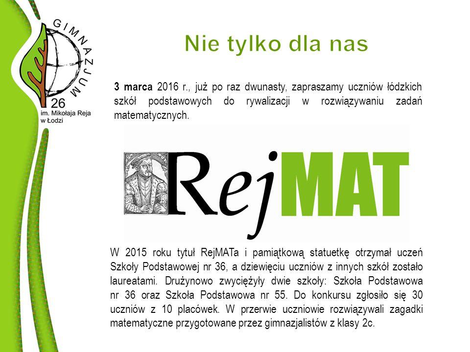 3 marca 2016 r., już po raz dwunasty, zapraszamy uczniów łódzkich szkół podstawowych do rywalizacji w rozwiązywaniu zadań matematycznych.