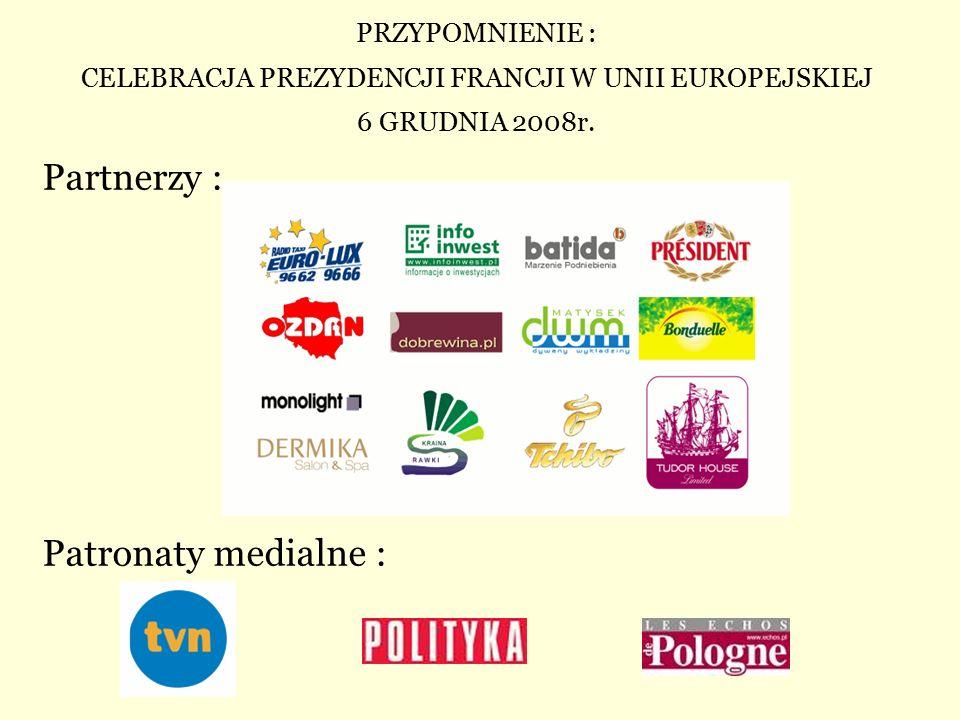 Partnerzy : Patronaty medialne :