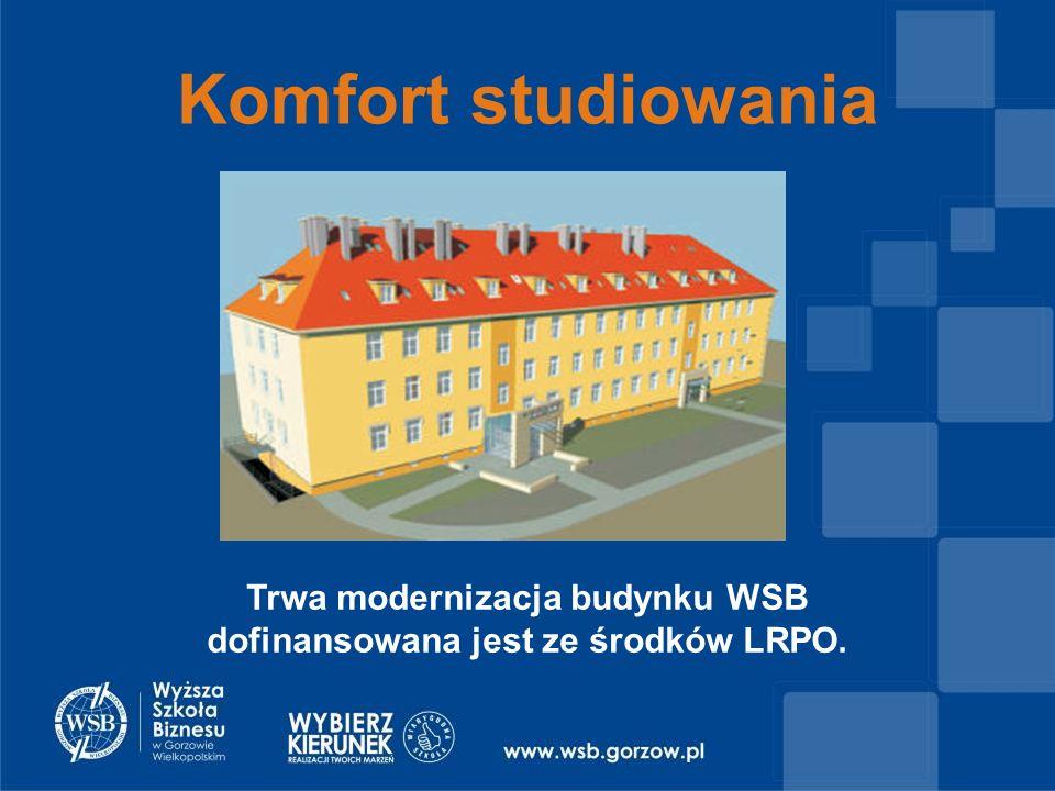 Komfort studiowania Trwa modernizacja budynku WSB dofinansowana jest ze środków LRPO.