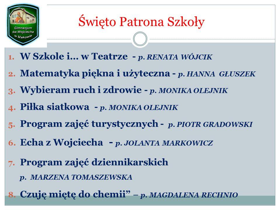 Święto Patrona Szkoły 1. W Szkole i… w Teatrze - p.