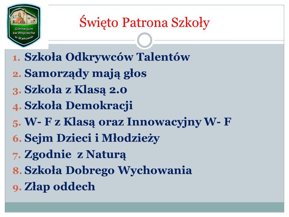 Święto Patrona Szkoły 1. Szkoła Odkrywców Talentów 2.