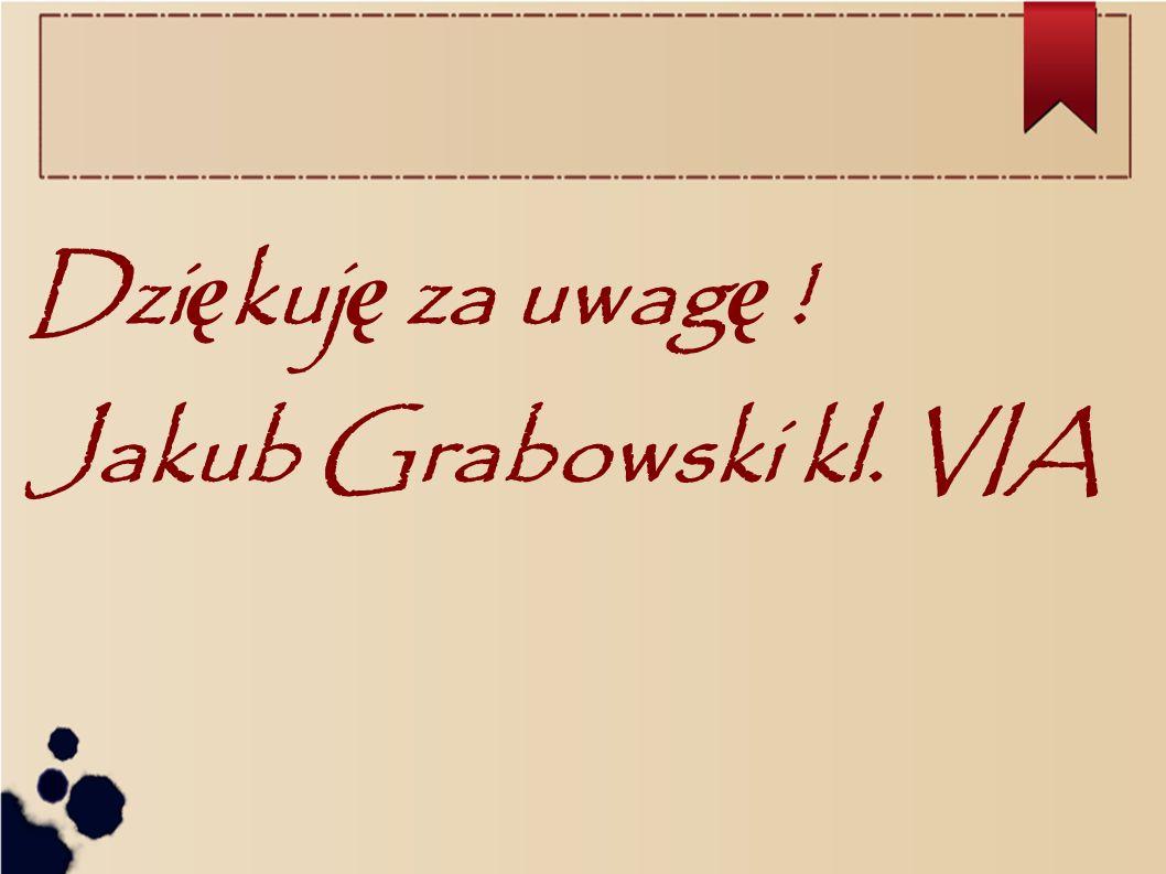 Dzi ę kuj ę za uwag ę ! Jakub Grabowski kl. VIA