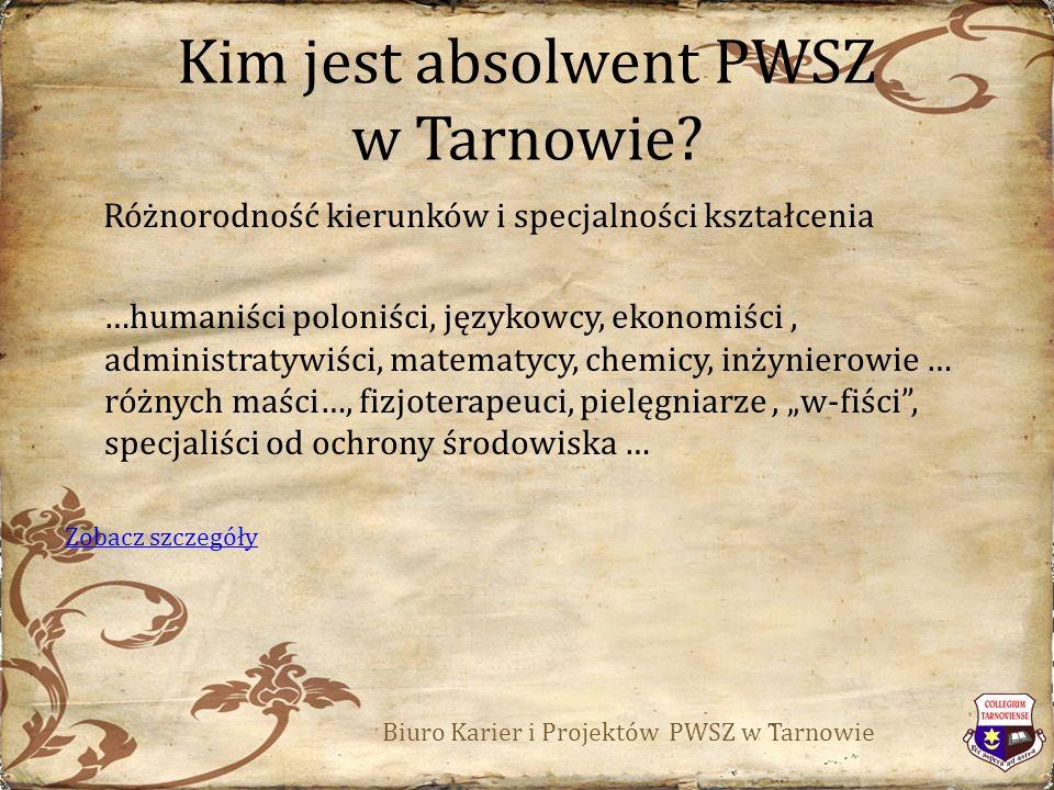 Kim jest absolwent PWSZ w Tarnowie.