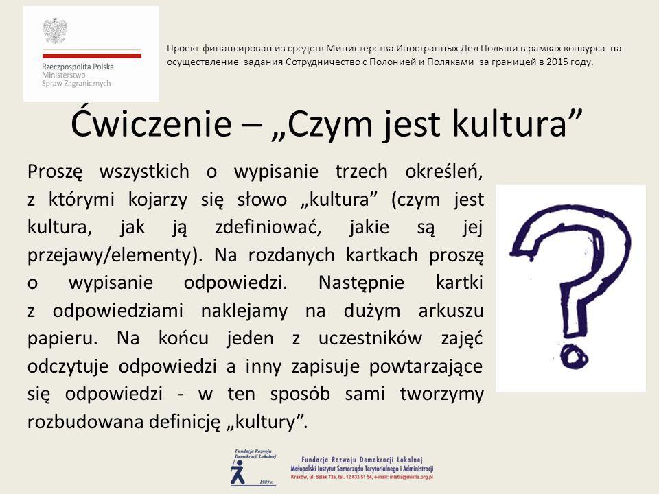 Język esperanto jako nośnik kultury esperanckiej - esperanto jest językiem międzynarodowym, stworzonym przez urodzonego w Białymstoku Ludwika Zamenhofa (1859-1917), który w roku 1887 opublikował podręcznik wykładający podstawy tego języka, podpisując go pseudonimem Dr Esperanto; Umiejętność wytwarzania instrumentu i gry na kozie - instrument dęty zwany kozą (lub dudami podhalańskimi) https://www.youtube.com/watch?v=grIvCmHyHHo i gra na nim to jeden z najstarszych elementów kultury górali.
