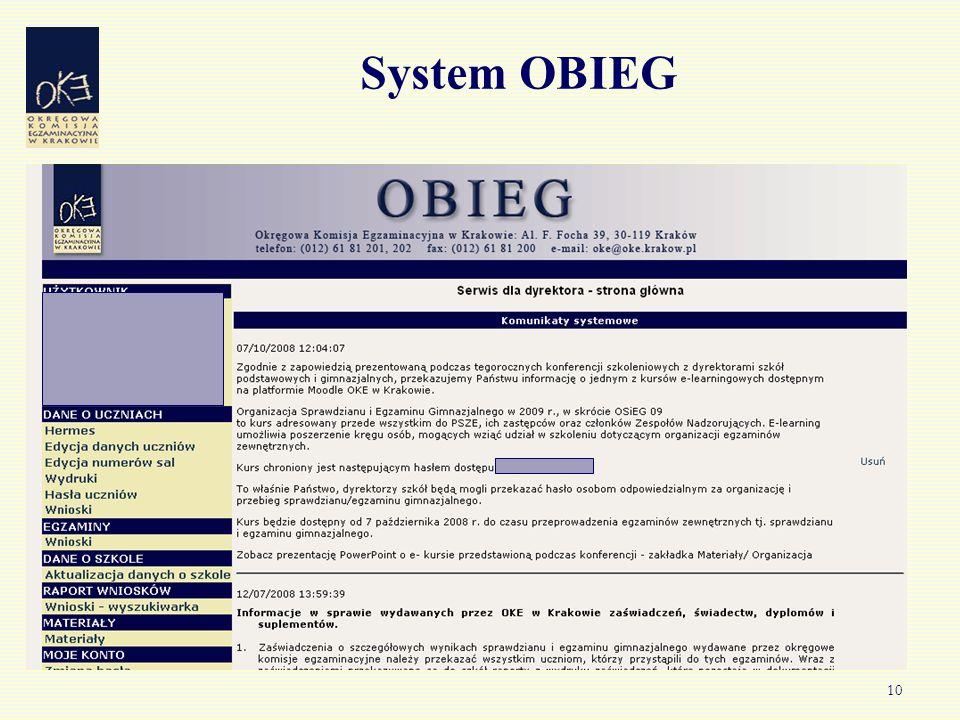 10 System OBIEG