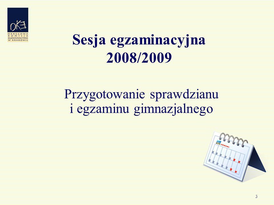 4 Terminy egzaminów Sprawdzian 2 kwietnia 2009 roku Egzamin gimnazjalny 22 kwietnia 2009 r.