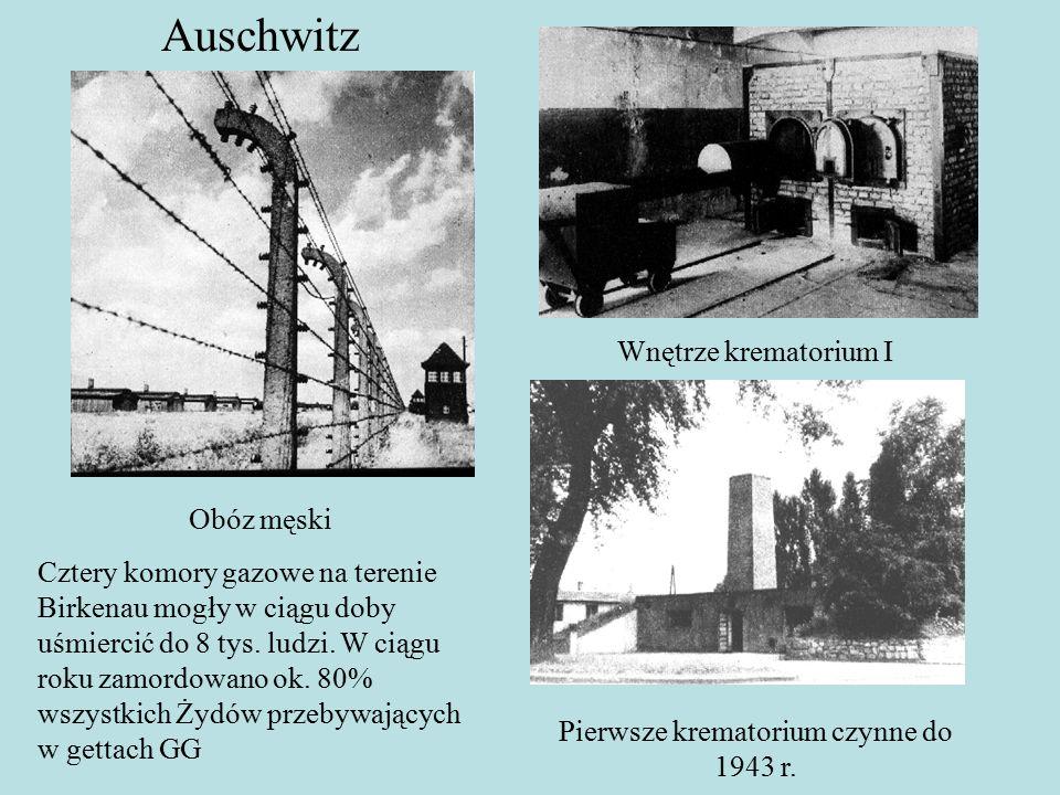 Auschwitz Wnętrze krematorium I Pierwsze krematorium czynne do 1943 r.