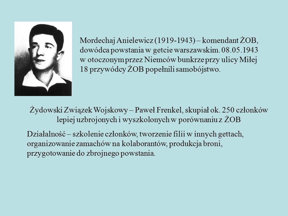 Żydowski Związek Wojskowy – Paweł Frenkel, skupiał ok.