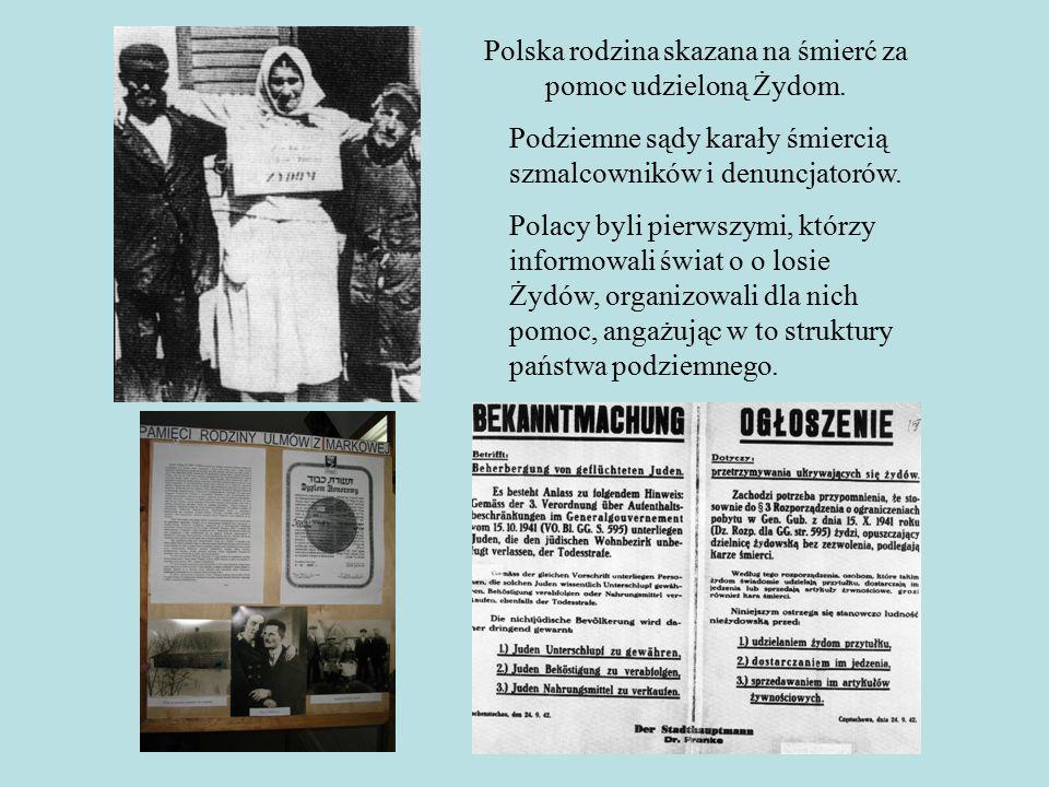 Polska rodzina skazana na śmierć za pomoc udzieloną Żydom.