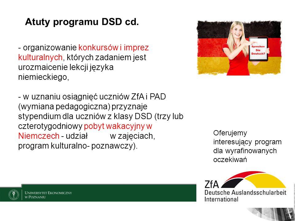 Atuty programu DSD cd.
