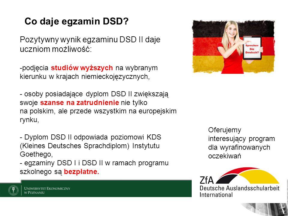 Co daje egzamin DSD.