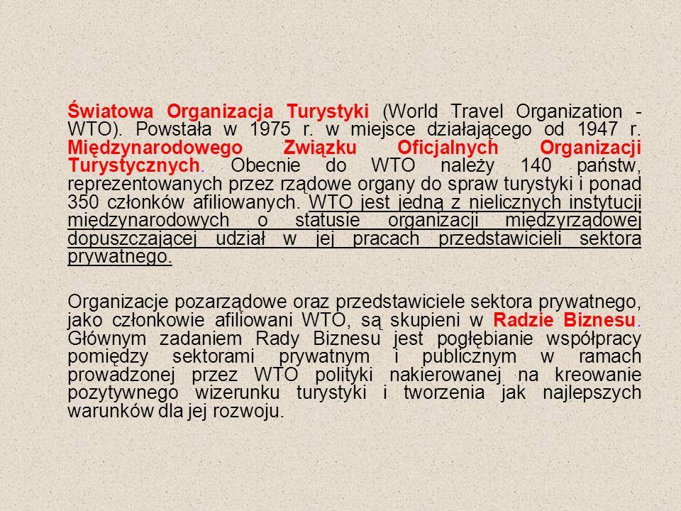Światowa Organizacja Turystyki (World Travel Organization - WTO).
