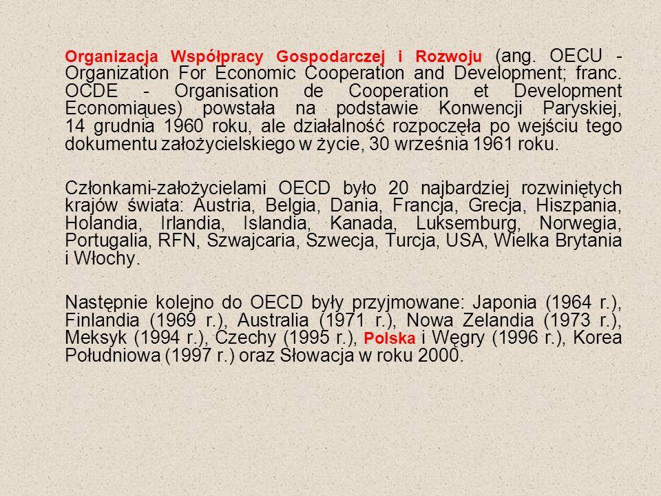 Organizacja Współpracy Gospodarczej i Rozwoju (ang.
