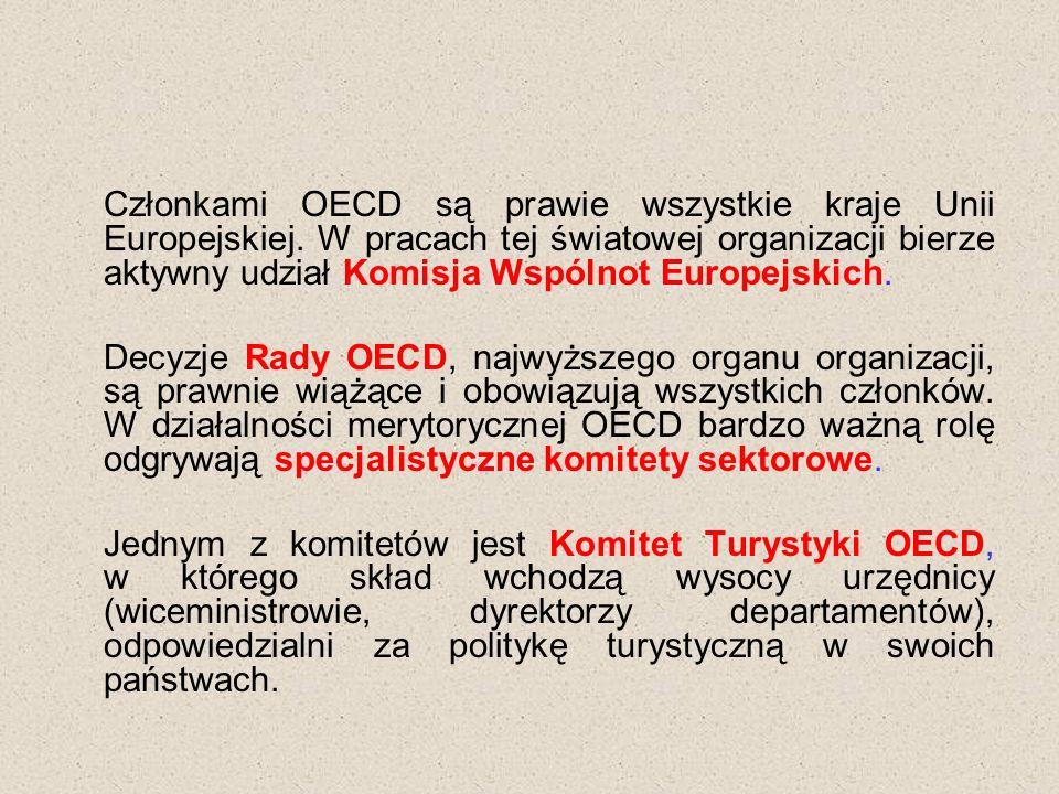 Członkami OECD są prawie wszystkie kraje Unii Europejskiej.