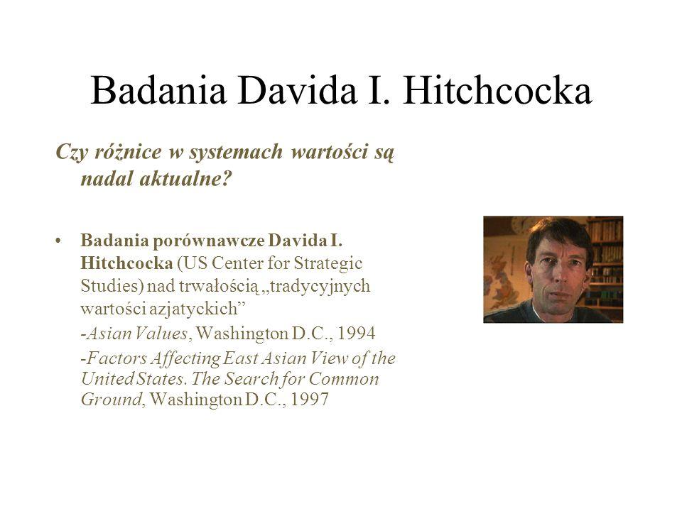 Badania Davida I.Hitchcocka Czy różnice w systemach wartości są nadal aktualne.