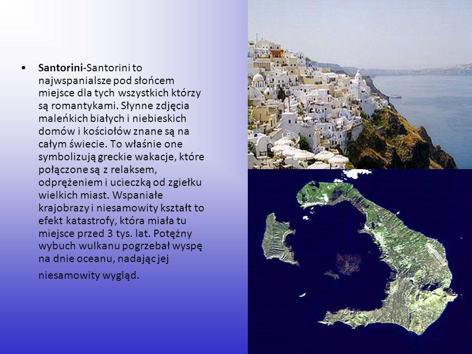 Santorini-Santorini to najwspanialsze pod słońcem miejsce dla tych wszystkich którzy są romantykami. Słynne zdjęcia maleńkich białych i niebieskich do