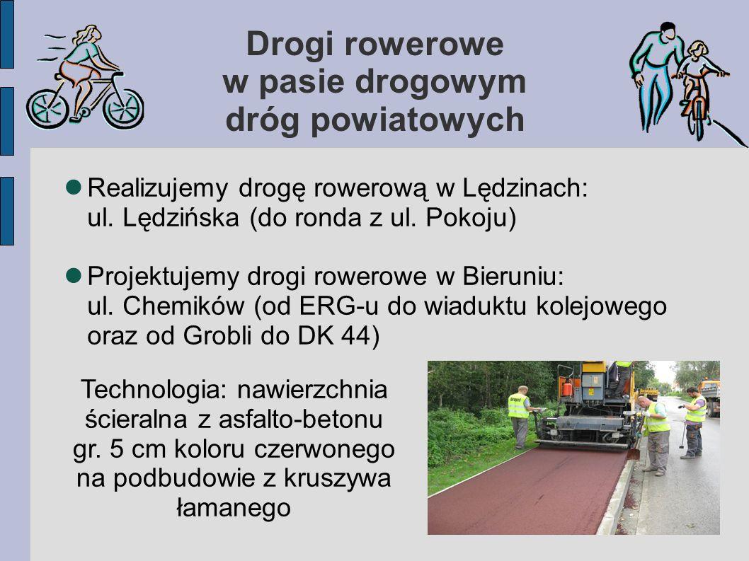 Drogi rowerowe w pasie drogowym dróg powiatowych Realizujemy drogę rowerową w Lędzinach: ul.