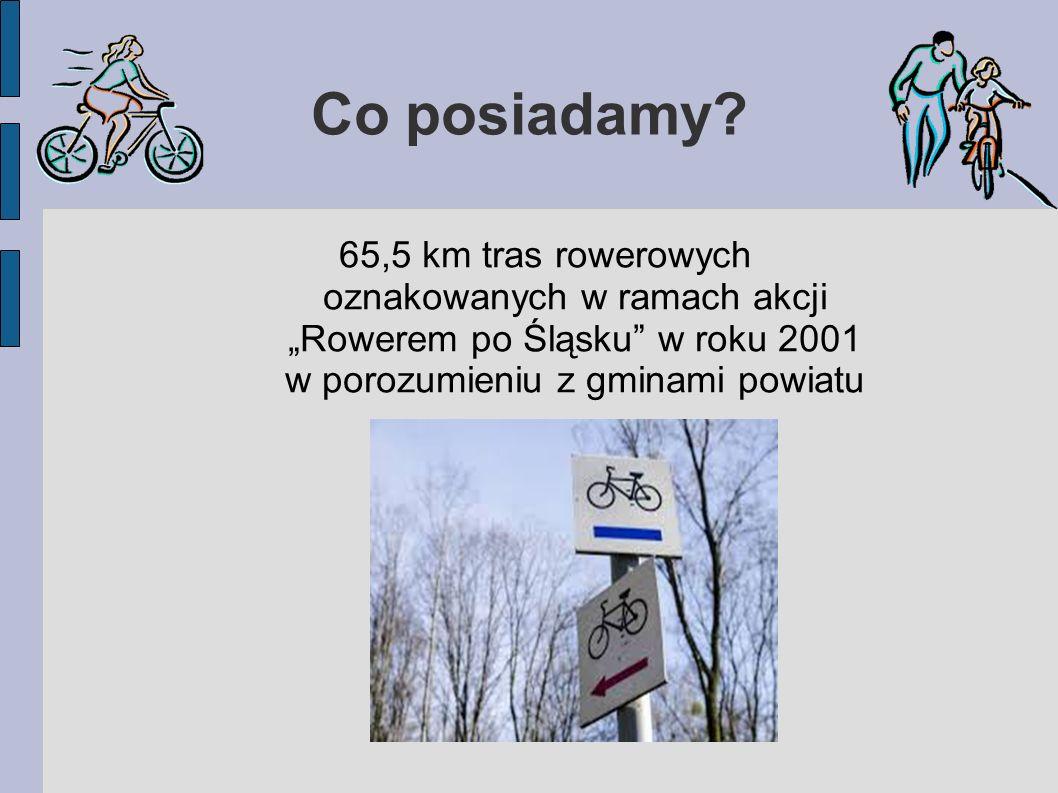 """trasa nr 8 Przez powiat bieruńsko-lędziński trasa przebiega na odcinku 10,3 km od Świerczyńca w Bojszowach, przez Bieruń Stary w pobliżu ośrodka wypoczynkowego """"Łysina i Górki w Lędzinach, gdzie łączy się z trasą zieloną nr 153"""