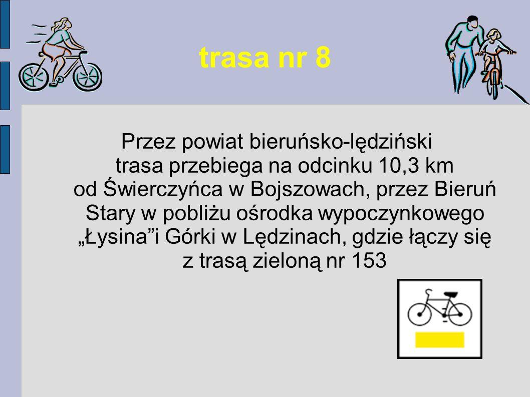 trasa nr 101 Oznakowanie trasy na naszym terenie (odcinek 5,3 km) zaczyna się na Zamościu na ul.