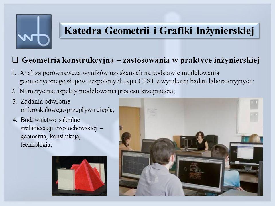  Geometria konstrukcyjna – zastosowania w praktyce inżynierskiej 1.Analiza porównawcza wyników uzyskanych na podstawie modelowania geometrycznego słu