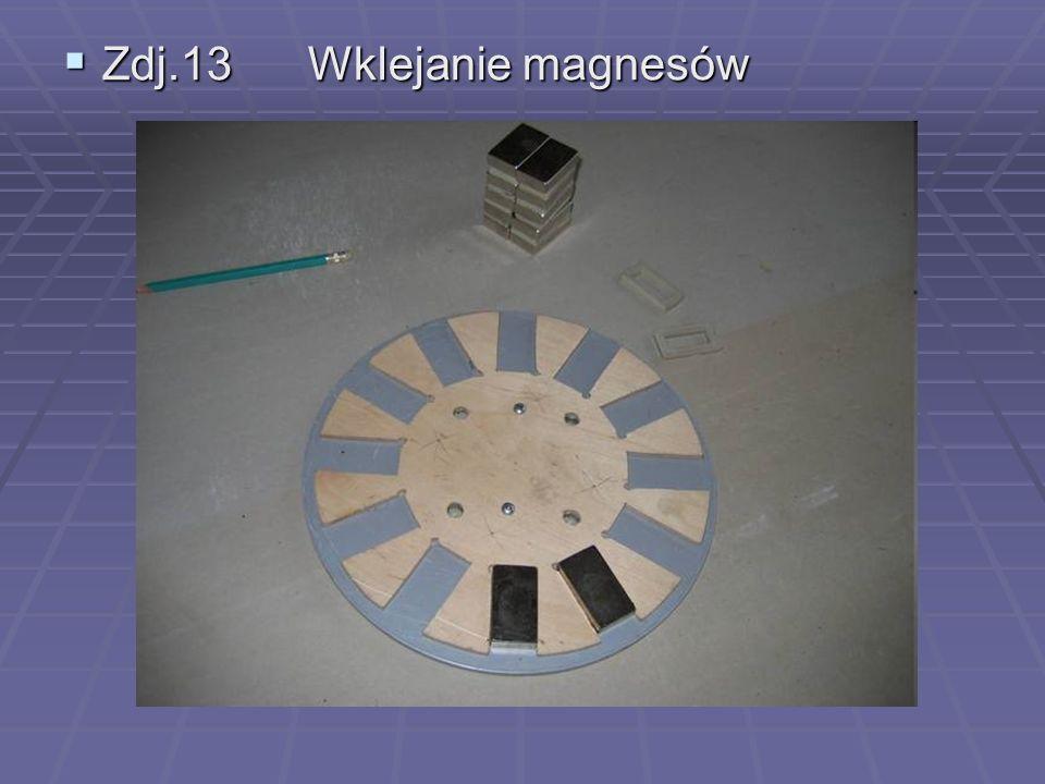  Zdj.13 Wklejanie magnesów